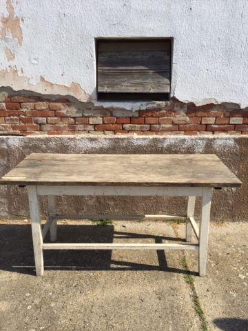 white legged wood table