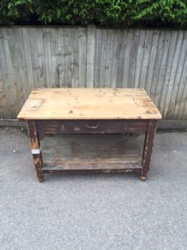large drawer - wooden table