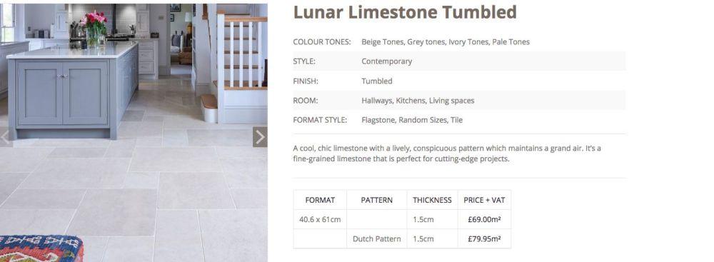 Lunar Tumbled LImestone