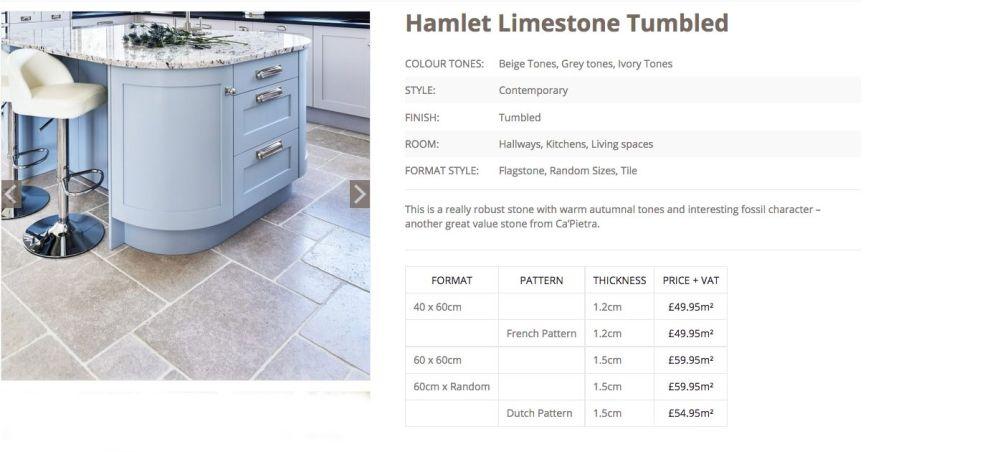 Hamlet Tumbled LImestone woodstoneuk