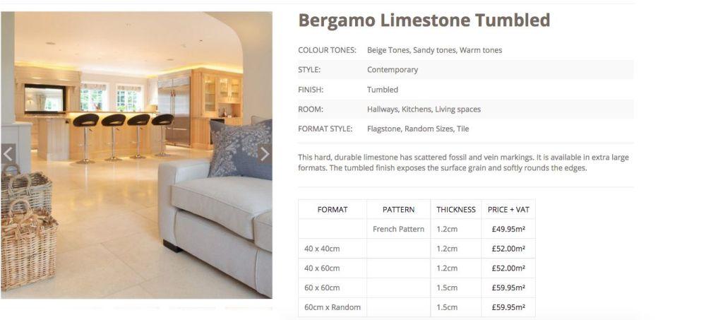 Bergamo tumbled limestone woodstoneuk