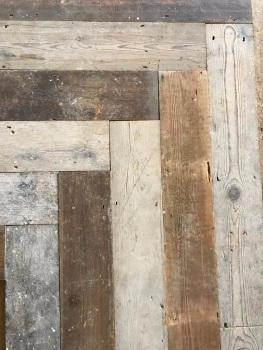 Reclaimed Pine Herringbone