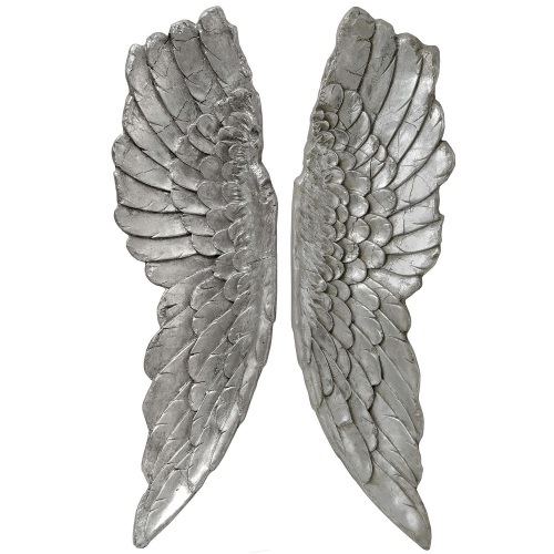 Extra Large Silver Angel Wings