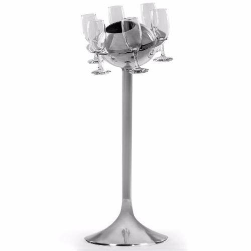 Floor Standing Champagne Bucket And Glasses