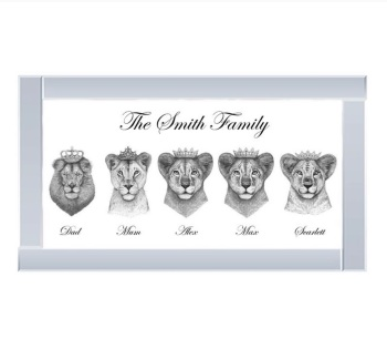 Personalised Lion Family