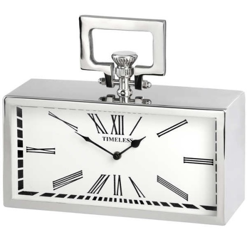 Silver Carriage Style Clock