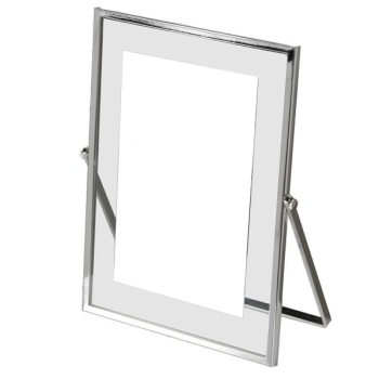 Silver Plated Clear Edge Frame