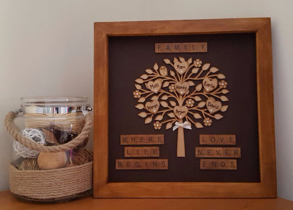 Solid Wooden Family Tree Frame