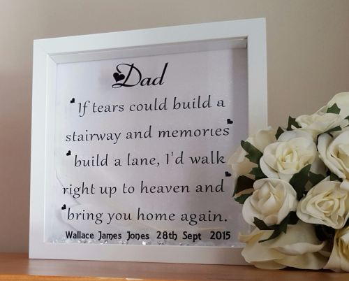 Fathers Day Lost Dad Memory Frame