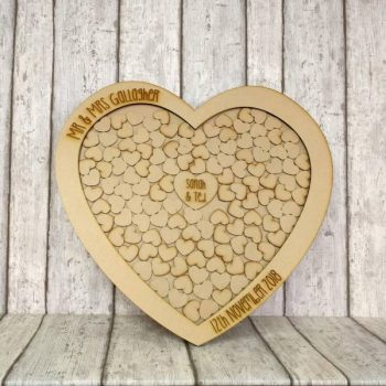 Large Heart Shaped Wedding Drop Box Frame