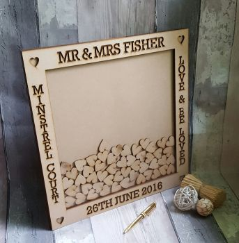 Small Engraved Wooden Guest Book