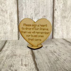 Heart Shaped Wooden Guest Book Sign