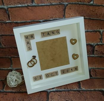 Mr & Mrs Scrabble Style Wedding/ Engagement Frame