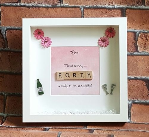 Scrabble Frames, Scrabble Art, Mothers Day,special birthdays, 40th ...