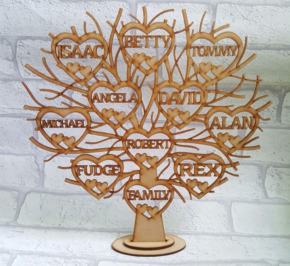 Wooden Family Tree, Freestanding