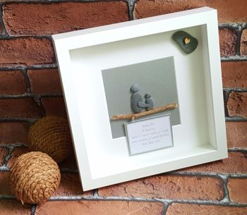 Personalised Childminder Pebble Art Box Frame