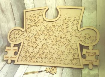 Jigsaw Drop Box Guest Book