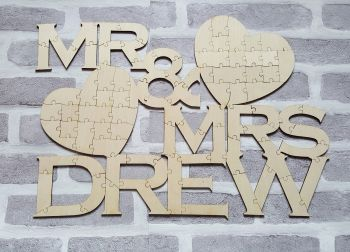 Jigsaw Puzzle Wedding Guest Book