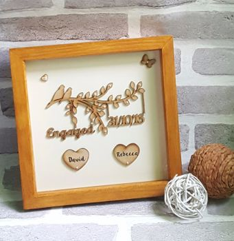 Handmade Solid Wood Frame, Engagement/Wedding Gift