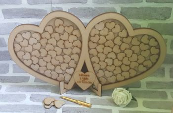 Large Double Heart Guest Book