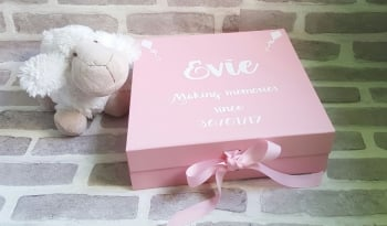Baby Memory Box, New Baby Gift Box, Christening Gift Box