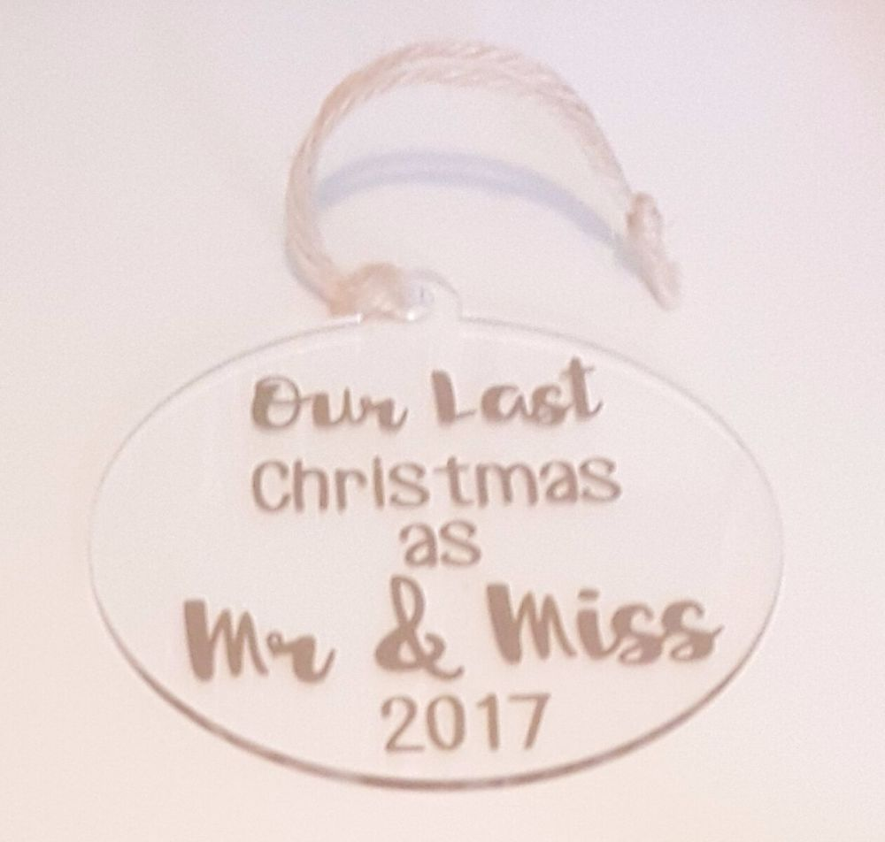 Last Christmas As A Miss 2020 Wedding Christmas Jumper: Our Last Christmas As Mr & Miss Bauble, Last Christmas As