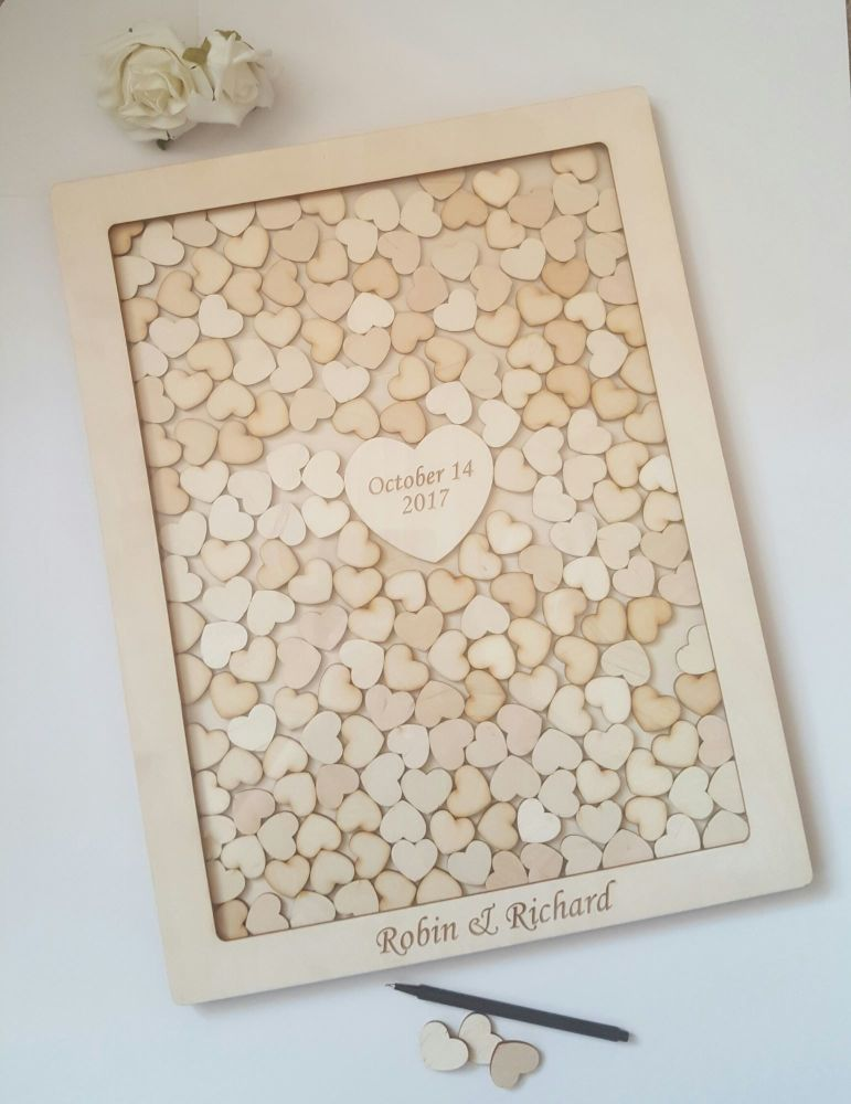 Wedding Drop Box Wooden Wedding Guest Book Frame