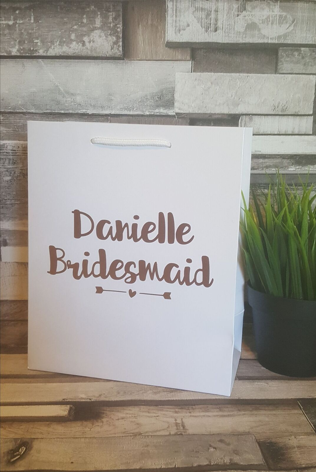Bridesmaid Gift Bags, Small Personalised Gift Bags, Handmade Gift Bags, Wed