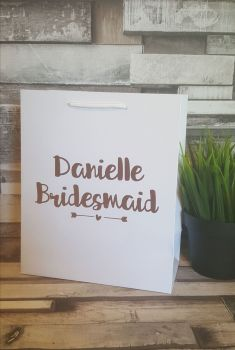 Small Personalised Gift Bags, Handmade Gift Bags, Wedding Gift Bags, Bridal Party Gift Bags
