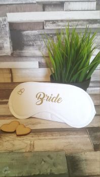 Bride Sleep Mask / Wedding Party Sleep Mask / Bridal Party Sleep Mask