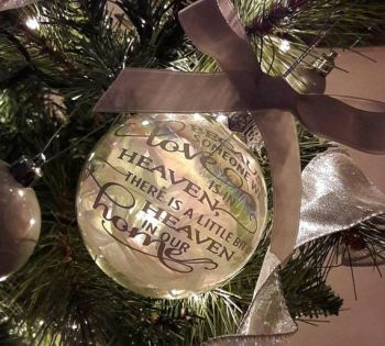 Lost Loved One Tree Ornament, Because Someone We Love Is In Heaven Christmas Bauble, Lost Lod One In Heaven Tree Decoration, Christmas Dec