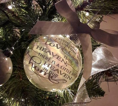 Lost Loved One Tree Ornament Because Someone We Love Is In Heaven Christma