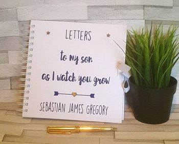 Baby Keepsake Book, New Baby Memory Book, Baby Keepsake Notebook, Baby Journal, Letters To My Son, Baby Memory Book, Making Memories