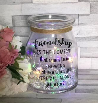 Friendship Light Up Jar. Bridesmaid Light Up Jar