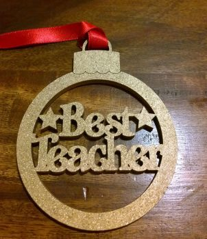Best Teacher Tree Decoration