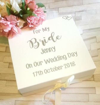 Bride Gift Box, For My Bride On Our Wedding Day