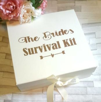 Bride Survival Kit Box, Bride to Be Survival Kit Gift Box