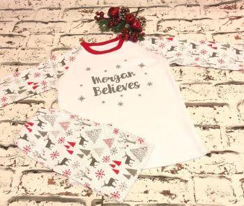 Christmas Believe Pyjamas, Childrens Believe Christmas Pyjamas