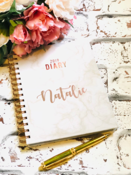 Rose Gold Personalised 2019 Diary
