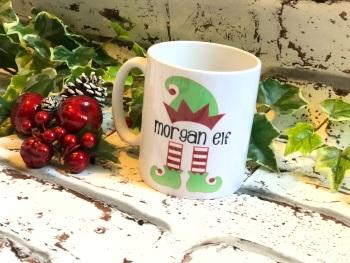 Elf mug, personalised elf mug
