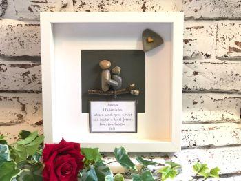Personalised Childminder Pebble Art Box Frame