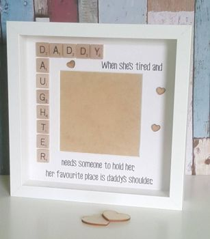 Daddy and daughter photo frame