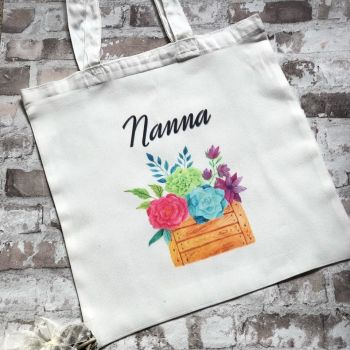 Personalised Tote Bag, Great Birthday Gift For Nan, Nanna, Mum etc.