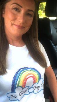 Rainbow Keep Safe, Be Kind T-shirt