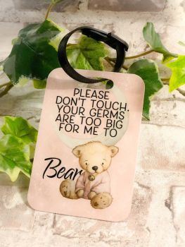 Do Not Touch Baby Pram Tag, Your Germs Are Too Big For Me Stroller Tag, Baby Pushchair Do Not Touch Tag