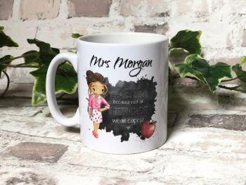 Male and Female Teacher Hero Gift, Teacher Mug, Best Teacher Mug, Personalised Teacher Gift, Personalised Super Hero Mug