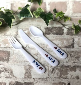 Children's  Personalised Cutlery Set