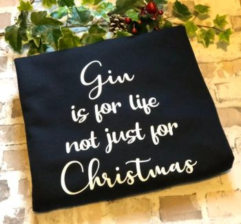Gin Christmas Jumper, Gin Christmas Sweater, Quirky Christmas Sweatshirt, Gin Is For Life Not Just For Christmas, Xmas Jumper