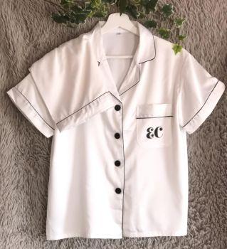 Satin Pyjamas, Personalised Luxury Pyjamas, Personalised Pjs, Monogrammed Pyjamas, Luxury Nightwear, Personalised Satin Nightwear