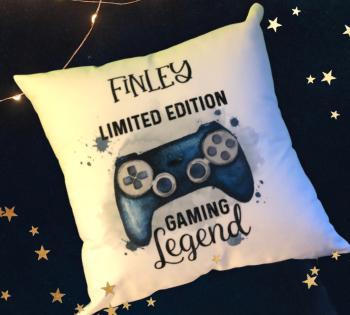 Gamer Cushion Gift, Gamer Gift For Men, Gamer Gift For Boys, Personalised Christmas Cushion Gift